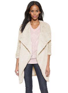 Apricot Long Sleeve Lapel Faux Fur Outerwear 37.19