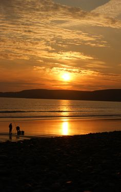 Sunset at Newgale beach, Pembrokeshire. Join us for our Wonderful Wales trip to see great scenery like this. Get all the details from our website....