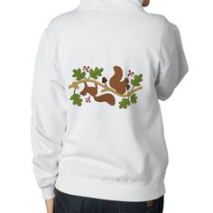 Squirrel Play Embroidered Hooded Sweatshirt from Zazzle.com