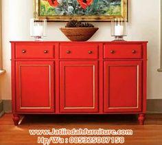 Jati Indah Furniture - Nakas adalah suatu meja kecil yang menyerupai dan berfungsi seperti lemari tapi memiliki ukuran yang lebih kecil. banyak varian dari nakas, yaitu mulai dari disain minimalis, ada nakas ukir, ada juga yang punya konsep unik. Untuk kali ini kami akan mengenalkan nakas terbaru dari  jati indah furniture yaitu Nakas Minimalis Duco Merah .Nakas Minimalis Duco Merah  ini sangat cocok untuk anda untuk menyimpan barang barang anda didalam laci bahkan di atas Nakas Minimalis…