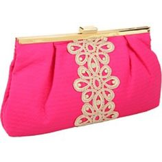 Lilly Pulitzer Opening Night Clutch Jacquard Beautiful bright hot pink Lilly Pulitzer clutch. NWT Lilly Pulitzer Bags Clutches & Wristlets
