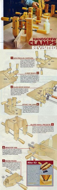 Using Hand Screw Clamp - Clamp and Clamping Tips, Jigs and Fixtures | WoodArchivist.com