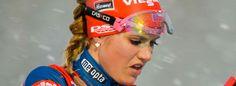 Bei ihrem Heimrennen überrascht Susan Dunklee mit einem zweiten Platz. Nur die derzeit Weltcupführende Gabriela Soukalova konnte sie schlagen.