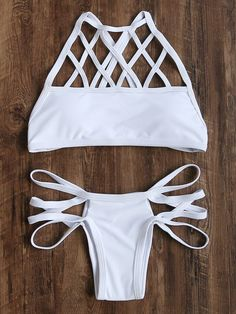 Shop White Cutout Cross Back Bikini Set online. SheIn offers White Cutout Cross Back Bikini Set & more to fit your fashionable needs.