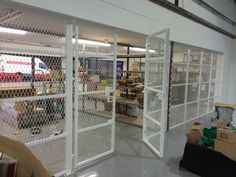 cage fitted to a storage room in a commercial building in Slough. Storage Room, Offices, Cage, Commercial, The Unit, Spring, Building, Home Decor, Pantry
