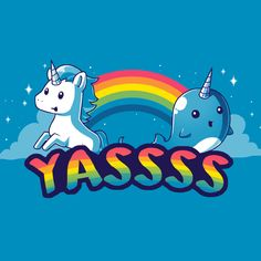 YASSSS - This t-shirt is only available at TeeTurtle! Exclusive graphic designs on super soft 100% cotton tees.