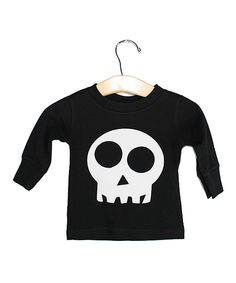 Look at this Rivera-Company Black Skull Tee - Infant, Toddler & Kids on #zulily today!