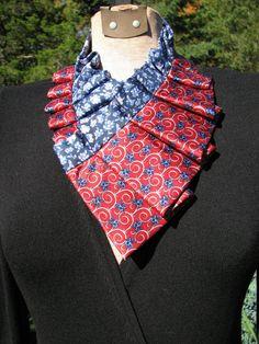 Pleated Necktie Ascot  Silk Necktie Accessory  by TieTandem