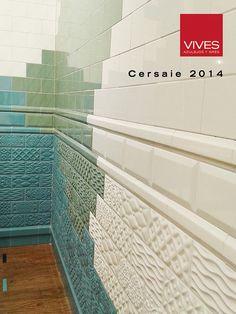 Tendencias de Vives en Cersaie 2014. Stand. Rivoli Raspail, Mugat (Blanco Oliva, Celeste) #Cersaie #VivesAzulejosyGres.S.A.