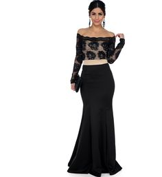 2/18/16       Brand/Designer: Windsor     Season: 2016     Material: Nylon /Spandex     Occasion: Formal Prom Dress     Dress Silhouette: Mermaid     Shoulder: Off-Shoulder     Skirt: Mermaid     Size Category: Adult     Dry Clean     Hand Wash     Available Colors: Black