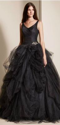 Love a big ballgown for Maid of Honor or bridesmaids. Vera Wang Ebony Collection.