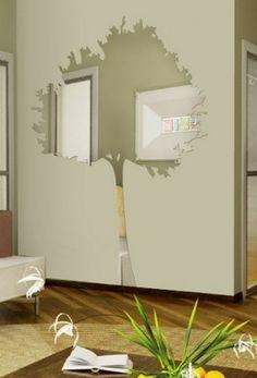 Декор стен наклейками, зеркальные интерьерные наклейки