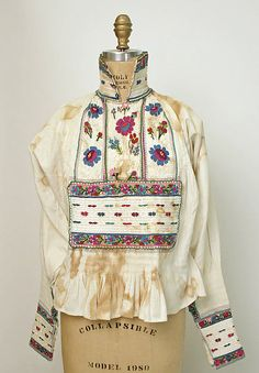 Search the Metropolitan Museum's Collection Online. Traditional Fashion, Traditional Outfits, Costumes Around The World, Vintage Closet, Ethnic Dress, Embroidery Fashion, Folk Costume, Summer Art, European Fashion
