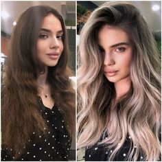 Before and after haircut styles for 2020   Just Trendy Girls Long Wavy Hair, Short Hair Cuts, Medium Hair Styles, Short Hair Styles, Before And After Haircut, Dramatic Hair, Very Short Haircuts, Latest Hair Color, Hair Upstyles