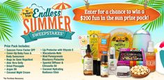 I just entered the Puritan's Pride 'Endless Summer' Sweepstakes for a chance to win a fun in the sun prize pack worth $200. You should too! Enter here: http://woobox.com/hz43rd/j0hztq