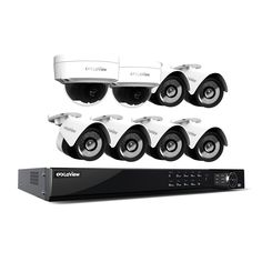 LaView 1080p IP NVR 8 Channel 4TB Hard Drive Video Security Surveillance System 6 PoE IP Bullet and 2 PoE IP Dome Cameras