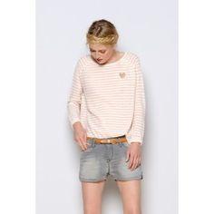 Powder white Daudet sweater @ DES PETITS HAUTS