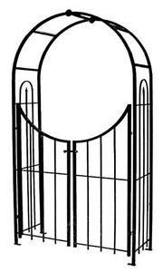 Garden Gate Arch Arbor Trellis Wrought Iron Powder Coated