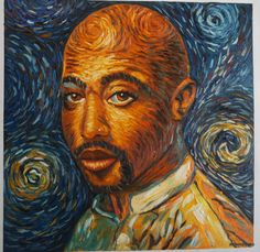 THERE IS A MARKET FOR THIS!  Tupac 2pac Shakur Van Gogh style oil painting on by artkeepsake, $129.99