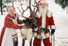 Cutest Santa and Mrs. Claus!  They are a Real Couple and Have been Married fo 50 Years and Have pet Reindeer!