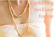 DIY Necklace  : DIY Gold Ring Necklace -