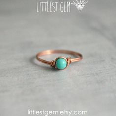 Tiny Turquoise Ring, Copper ring, wire wrapped ring, wire wrapped jewelry handmade, unique rings, turquoise ring, clothes, clothing, girl, girls, women, lady, outfit, accessories, jewelry, fashion, bling, copper, turquoise ring, teal ring, turquoise, hipster ring
