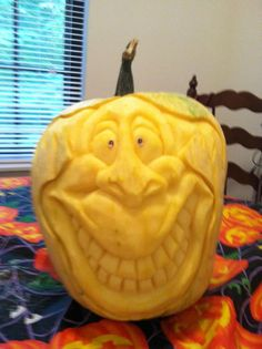 My fave pumpkin carved by my friend Pat Harrison