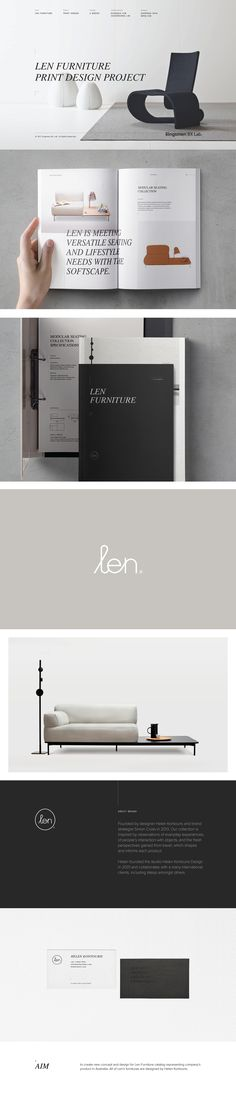 Len Furniture Editorial and Web Design on Behance
