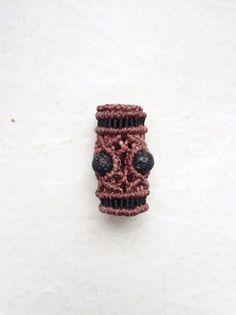 Haarbänder - Dreadschmuck dreadperle macrame makramee Edelstein - ein Designerstück von JustbeA bei DaWanda