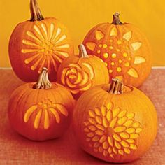 Pumpkin Flower Carving Ideas