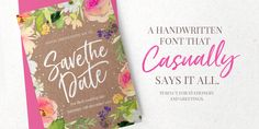 Just Lovely - Brush Style Hand Lettered Calligraphy Font (affiliate link)