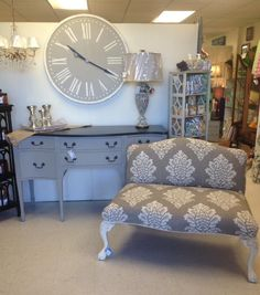 Beautiful painted Buffet Upholstered setee