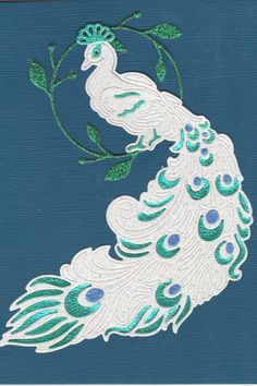 Tattered Lace White Peacock die-cut