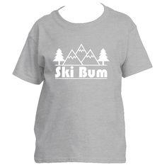 Ski Bum Mountain & Trees - Youth/Kid's T-Shirt
