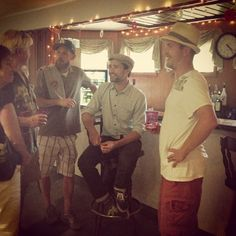 """Matt Dallas """"chatting with the locals"""" in Turners Falls, MA where a Patriot Golf Tournament fundraiser was held at Thomas Memorial Golf & Country Club to benefit the Thunder Road Film Campaign. MDW main site.Twitter.Facebook Page.YouTube Channel.Pinterest (Photo: Thunder Road Film/Instagram)"""