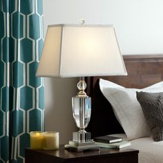 Baya Crystal 1-light Chrome Table Lamp - Overstock™ Shopping - Great Deals on Table Lamps