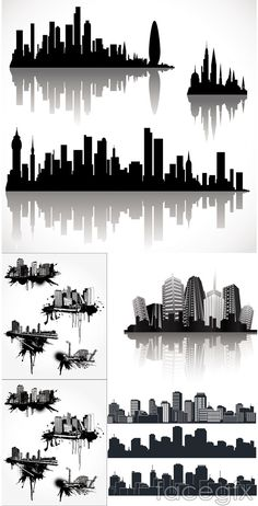 Cool city sketch vector | Others vector