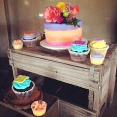 Colourful Cupcakes & Cutting Cake www.facebook.com/breezyscakes