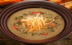 Sopa de avena tostada