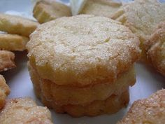 GALLETAS DE MI ABUELA Cinnamon Sugar Cookies, Coconut Cookies, Lemon Cookies, Yummy Cookies, Mexican Food Recipes, Sweet Recipes, Cookie Recipes, Dessert Recipes, Desserts