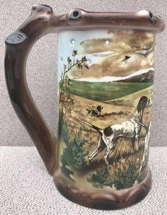 Vintage HUNTING DOG SCENE GEROLD PORZELLAN Mystery Puzzle Mug Stein w/NUDE LITHO | eBay