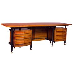 Spectacular Large Modernist Italian 1950s Desk | From a unique collection of antique and modern desks at https://www.1stdibs.com/furniture/storage-case-pieces/desks/