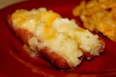 Weenie Boats - use left over mashed potatoes