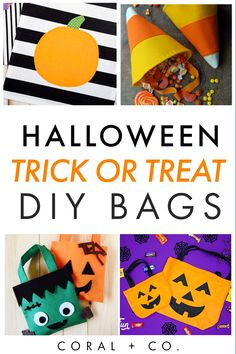 25  COOL DiY HALLOWEEN TRICK OR TREAT BAGS TO SEW!  Find terrifying, spooky, creepy crawly Halloween Treat bags to easily DIY yourself.  Click to see the most awesome Trick or Treat Bags! #diyhalloween #halloweensewing