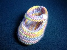 How to Knit Basic Mary Jane Baby Booties Part 1 (Left Bootie)