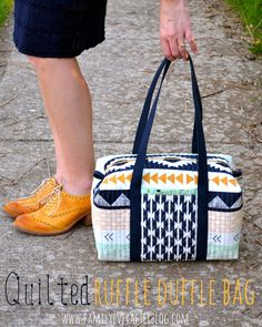 Family Ever After....: Quilted Ruffle Duffle Bag + Arizona Fat Quarter Giveaway!