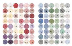 Kawaii planner sticker set - Retro Color - Morandi - Emoji Wallpaper Stickers, Anime Stickers, Kawaii Stickers, Cute Stickers, Journal Stickers, Scrapbook Stickers, Planner Stickers, To Do Planner, Kawaii Planner