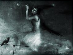 il viaggio della Strega  Witch's travel  original illustration print by Vocisconnesse, €19.26