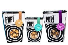 Our packaging... Gourmet Pop ...Popcorn Re-Invented ...follow us on instagram @ontrendmarketing