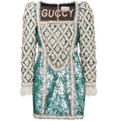 Shop Gucci Pearl Embellished Guccy Silk Mini Dress at Browns. Kpop Fashion, Fashion Outfits, Fashion Ideas, Moda Kpop, College Attire, Hollister Style, Gucci Dress, Knitted Romper, Silk Mini Dress